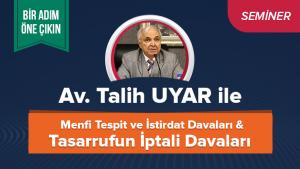 MENFİ TESPİT VE İSTİRDAT DAVALARI & TASARRUFUN İPTALİ DAVALARI